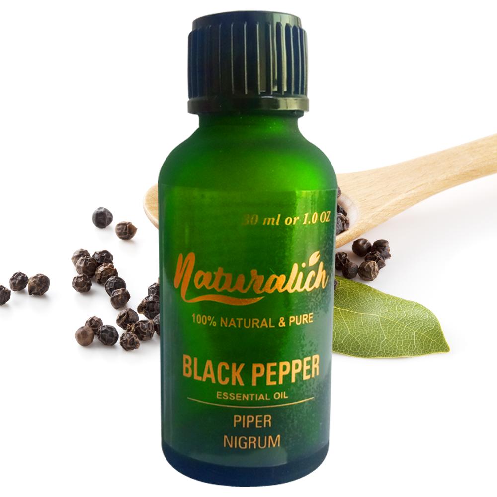 Naturalich Black Pepper Essential Oil 100 % Pure & Natural