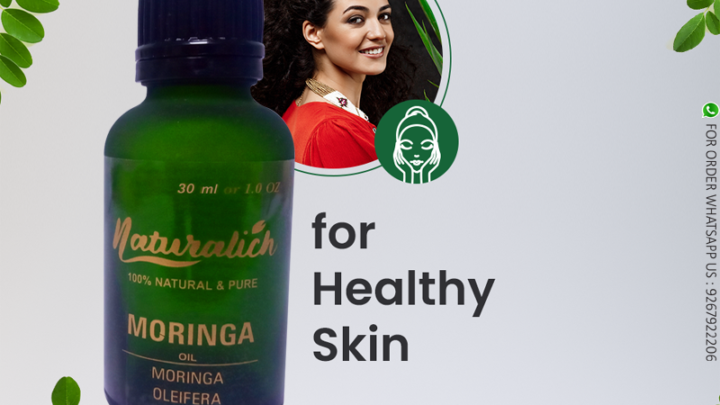 Naturalich Moringa Oil 30 ml Cold Pressed Natural Undiluted for Hair Growth and Skin Care