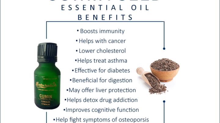Naturalich Pure Cumin Seed Essential Oil (Cuminum cyminum) 100% Natural Therapeutic Grade Steam Distilled (15 ml)