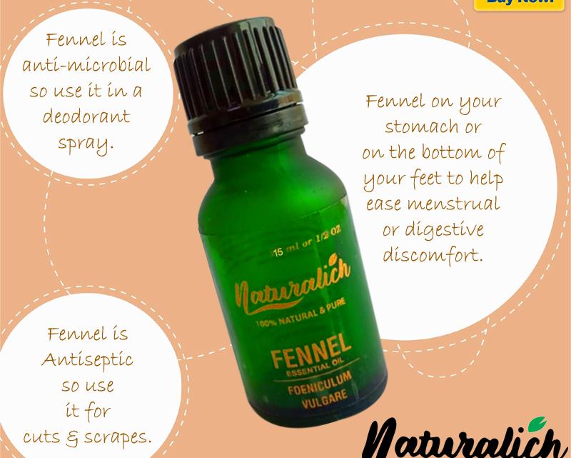 Buy Now Fennel Essential Oil 15 ML - Naturalich
