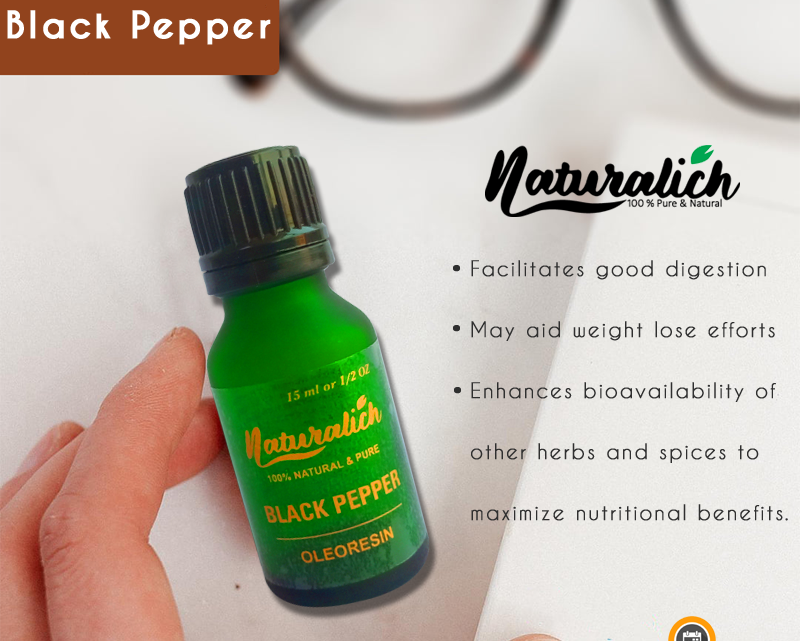 Naturalich Black Pepper Oleoresin With Dropper 15 ml