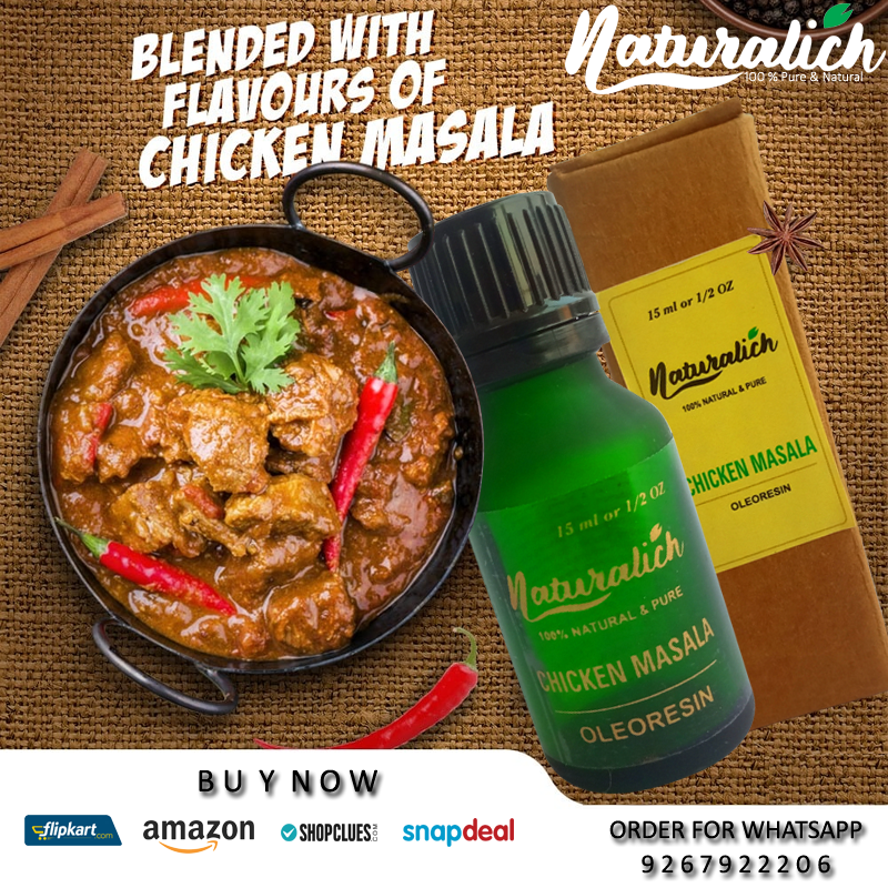 Naturalich Chicken Masala Oleoresin   Premium Spices Blend   100 % Pure and Natural