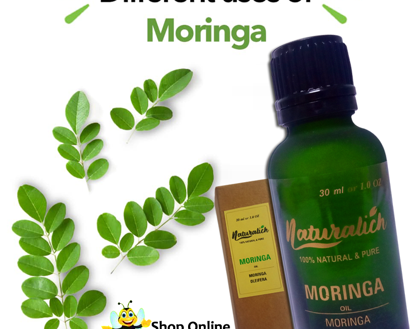 Naturalich 100 % Pure & Natural Moringa Oil, 30 ML | For Hair, Skin & Anti-Ageing Face Care